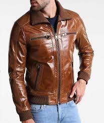 mens shining brown er jacket