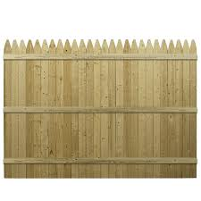 wood picket fence panels. Beautiful Panels Severe Weather Actual 591ft X 8ft Barrette Pressure Treated In Wood Picket Fence Panels