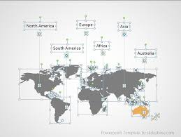 Map Of The World For Powerpoint World Map Infographic Powerpoint Template Slidesbase