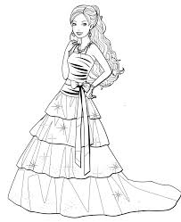 Pin By Tri Putri On Fashion Dress Drawing Barbie Coloring Pages