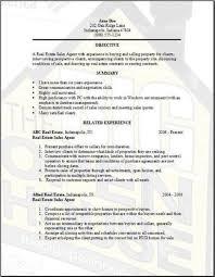 real estate resume realtor resume example