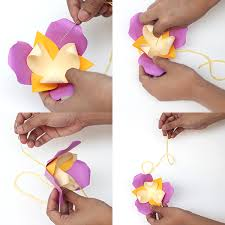 Paper Flower Mobiles Diy Paper Flower Mobile 09 Baby And Breakfast