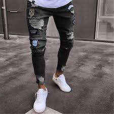 marca slim fit pantalones rotos