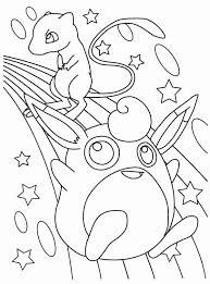 Small Picture Wigglytuff and Mew Legendary Pokemon Coloring Page DAN
