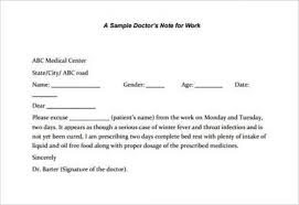 Free 15 Sample Doctors Notes In Pdf Word