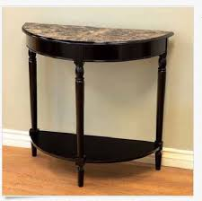 black half moon console table. Interesting Table Half Moon Console Table Entryway Faux Marble Top French Country Decor Black  Hall  EBay Throughout