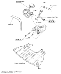 repair guides power steering pump removal installation exploded view power steering pump vane pump assembly 2000 05 gs 300