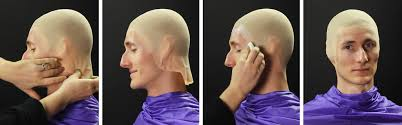 smooth over the edges of the bald cap with latex and allow to dry