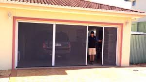 double garage door insect screen hiss retractable insect screen