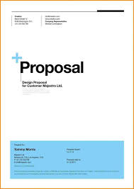 Business Proposal Cover Page Cover Page Of Proposal Karlapaponderresearchco 7235710687051