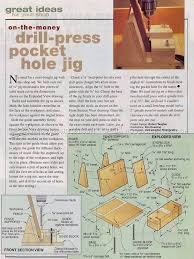 drill press pocket hole jig joinery tips jigs and techniques woodarchivist com