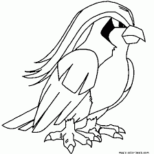 Small Picture Pokemon coloring pages online free bird