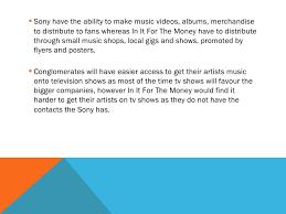 Music Industry Essay Plan