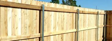 wood fence posts installation privacy wooden installing in concrete post how to set fen