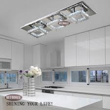 modern led diamond crystal ceiling light fitting res crystal led kitchen light fixtures