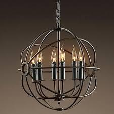 rustic orb chandelier