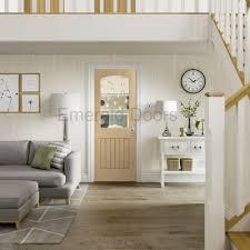 Buy Sussex Oak Cottage Door with Clear Glass | Emerald Doors