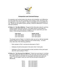 Essay Of Comparison And Contrast Examples Comparison Contrast Essay Examples