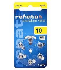 <b>Батарейки</b> для слухового аппарата <b>Renata ZA10</b>, <b>6</b> шт — купить в ...