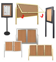 Free Standing Display Board Free Standing Outdoor Bulletin Boards Enclosed Lockable Case Doors 43