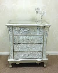 mosaic bedroom furniture. Sparkly Champagne Silver Crackle Mosaic Mirrored Glass 4 Drawer Chest Of Drawers Bedroom Furniture R