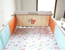 fox bedding embroidery prairie fox baby bedding set cotton baby crib bedding set early education fox twin sheet set