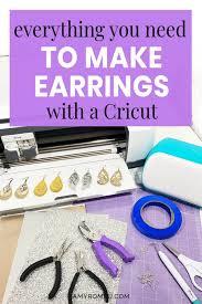 making cricut faux leather earrings