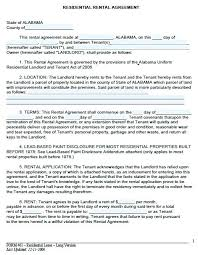 Residential Lease Agreement Form Free Download Apartment Template ...