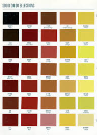 Richards Paint Color Chart Color Choice Options For Your Frame