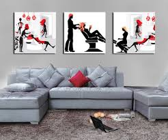 get ations espritte art huge hair salon picture painting on canvas print without framed modern home