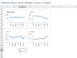 How To Copy And Align Charts And Shapes In Excel