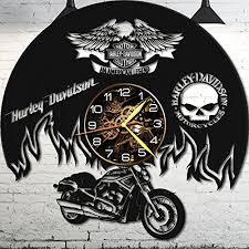 vinyl wall clock harley davidson wall clock vinyl record harley davidson gifts