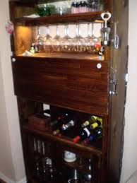 decoration traditional kitchen with wooden wine cabinet racks and dark brown bar liquor decoration synonym