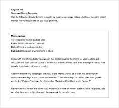 Sample Memo Templates Examples Memorandums 5 Sample Business Memo