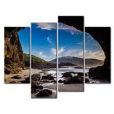 3 piece wall art painting auckland new zealand a large cave on beach print on canvas on beach themed wall art nz with 3 piece wall art painting auckland new zealand a large cave on beach