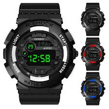 2019 new luxury <b>HONHX men's</b> digital watch LED watch <b>men's</b> ...