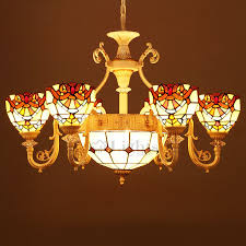 9 light tiffany stained glass chandelier for living room pertaining to elegant house stained glass chandeliers decor