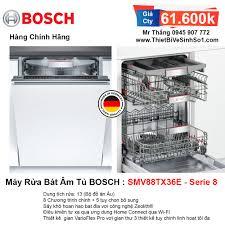 Máy Rửa Bát BOSCH SMV88TX36E Serie 8   Tổng Kho Bếp Chính Hãng Hà Nội