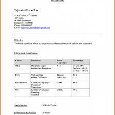 Mba Fresher Resume Pdf Best Resume Format For Freshers Niveresume