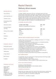 English Resume Template Delectable Student Entry Level Delivery Driver Resume Template