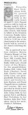 Obituary for Priscilla Nicholson Hart Still (Aged 94) - Newspapers.com