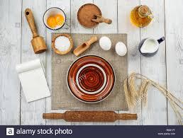 Dough Preparation Recipe Bread Pizza Or Pie Making Ingridients