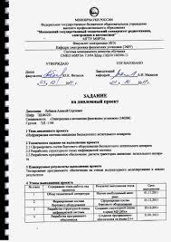 mirea кафедра ЭФУ  Задание 1 лист
