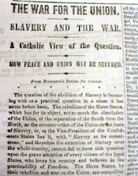 civil war newspaper w long essay the catholic church position  image is loading 1861 civil war newspaper w long essay the