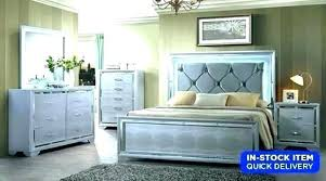 King Bedroom Sets With Mirror Headboard Set Beds Mirrored Bedrooms ...