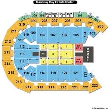 Mandalay Event Center Seating Chart 48 Circumstantial Mandalay Bay Event Center Map