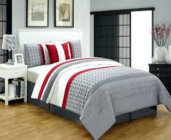 red and gray bedding type
