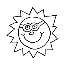 Small Picture Coloring Pages Stars Sun Moon Drawing
