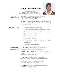 caregiver resume samples  berathencom