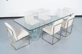 glass dining furniture. Vintage Sculptural Glass Dining Table Designed By The Artist Laurel Fyfe. Furniture A